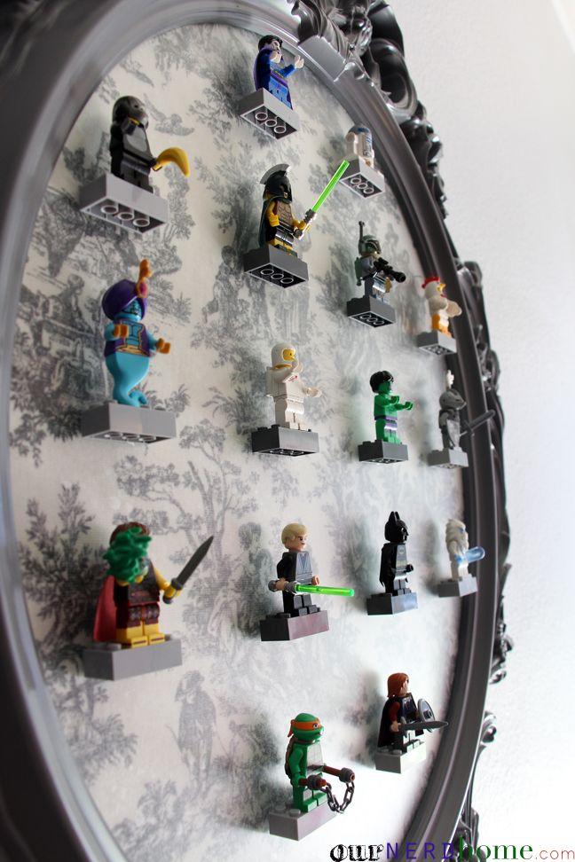 Awesome miniature Lego figurine display!